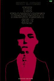 Cover of: The transparent self by Sidney Marshall Jourard