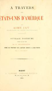 Cover of: travers les États-Unis d