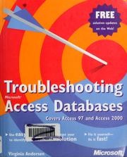 Cover of: Troubleshooting Microsoft Access databases | Virginia Andersen