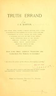 Cover of: Truth errand | Norton, J. B. of Providence, R.I.