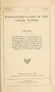 Cover of: Unallotted lands of the Creek nation | Creek Nation.