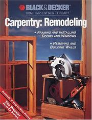 Cover of: Carpentry: Remodeling | Creative Publishing international