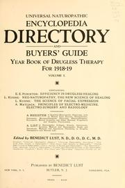 Cover of: Universal naturopathic encyclopedia, directory and buyers