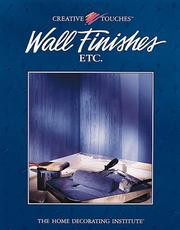 Cover of: Wall finishes, etc. |