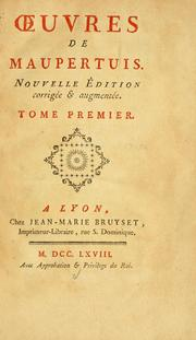 Cover of: uvres de Maupertuis