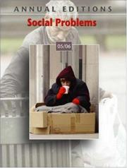 Cover of: Annual Editions: Social Problems 05/06