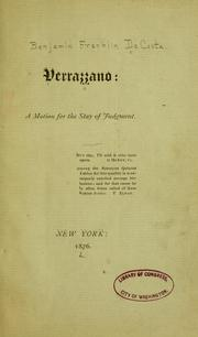 Cover of: Verrazzano | Benjamin Franklin De Costa