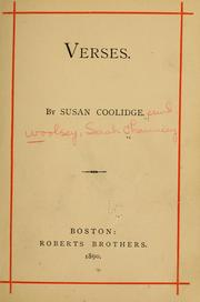 Cover of: Verses | Sarah Chauncey] Woolsey