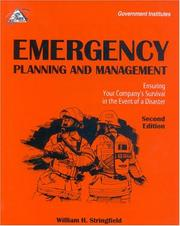 Cover of: Emergency planning and management