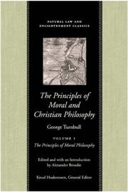 Cover of: The Principles of Moral and Christian Philosophy
