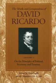 Cover of: The works and correspondence of David Ricardo