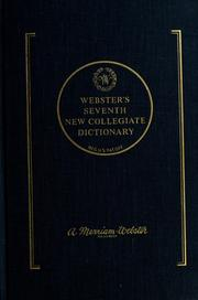 Cover of: Webster's seventh new collegiate dictionary |