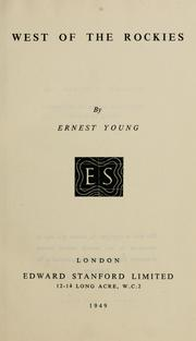 Cover of: West of the Rockies | Ernest Young