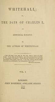 Cover of: Whitehall | Robinson, Emma