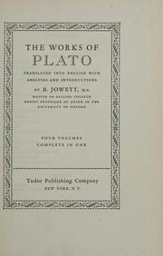 Cover of: The works of Plato | Plato