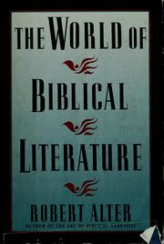 The world of biblical literature