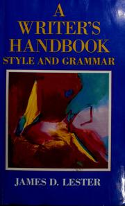 Cover of: A writer's handbook | James D. Lester