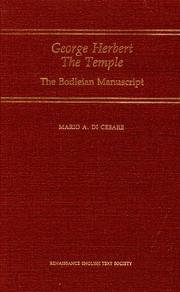 Cover of: George Herbert The temple