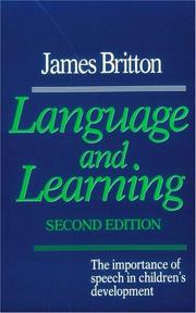Cover of: Language and learning | James N. Britton