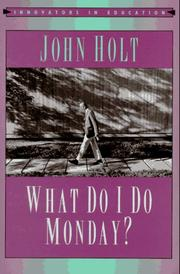 Cover of: What do I do Monday?