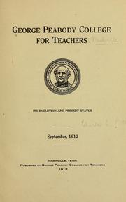 George Peabody college for teachers by George Peabody College for Teachers
