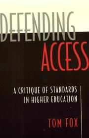 Cover of: Defending Access