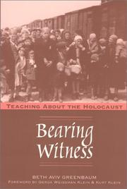 Cover of: Bearing Witness | Beth Aviv Greenbaum