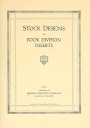 Stock designs of book division inserts ...