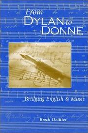 Cover of: From Dylan to Donne