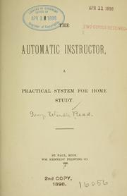 Cover of: automatic instructor | George Windle Read