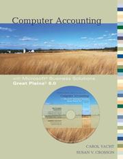 Cover of: Computer Accounting with Microsoft Business Solutions Great Plains 8.0 | Carol Yacht