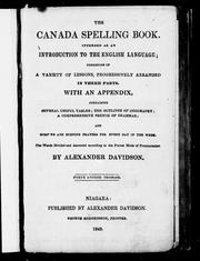 Cover of: The Canada spelling book | Alexander Davidson