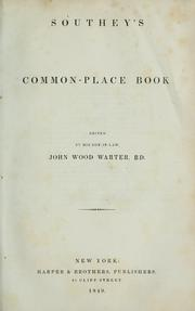 Cover of: Common-place book | Robert Southey