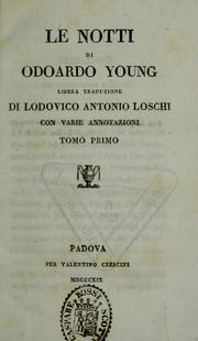 Cover of: Opere di Odoardo Young | Edward Young