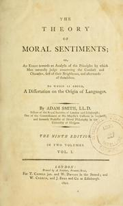 an analysis of adam smiths theory of moral sentiments Adam smith's theory of moral sentiments  formulating a conception of the  meaning of individual freedom and the role and functions of limited.