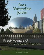 Cover of: Fundamentals of Corporate Finance Standard Edition + S&P Card + Student CD | Stephen A Ross