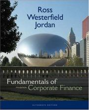 Fundamentals of Corporate Finance Alternate Edition + S&P card + Student CD (McGraw-Hill/Irwin Series in Finance, Insurance and Real Esta) by Randolph W Westerfield, Bradford D Jordan