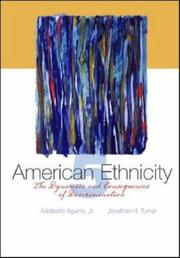 Cover of: American Ethnicity | Adalberto, Jr. Aguirre