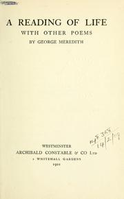 Cover of: A reading of life, with other poems | George Meredith