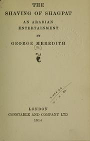 Cover of: The shaving of Shagpat, an Arabian entertainment | George Meredith