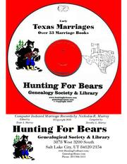 Early Texas Marriage Records by Nicholas Russell Murray, David Alan Murray