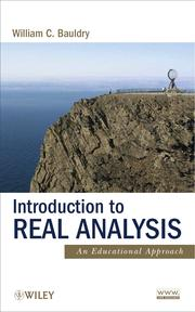 Cover of: Introduction to real analysis