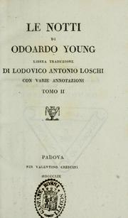 Cover of: Opere di Odoardo Young by Edward Young