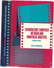 Cover of: Introductory Computer Mehtods and Numerical Analysis