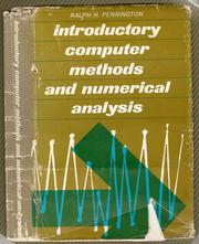 Cover of: Introductory computer methods and numerical analysis