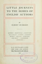 Cover of: Little journeys to the homes of English authors | Elbert Hubbard