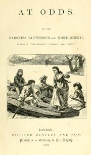 Cover of: At odds | Jemima Montgomery Baroness Tautphoeus