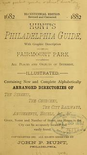 Cover of: Hunt's Philadelphia guide by