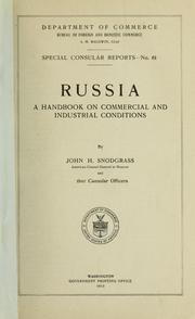 Cover of: Russia | United States. Bureau of Foreign and Domestic Commerce