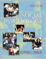 Cover of: Social Psychology with SocialSense CD-ROM and PowerWeb | Stephen L. Franzoi